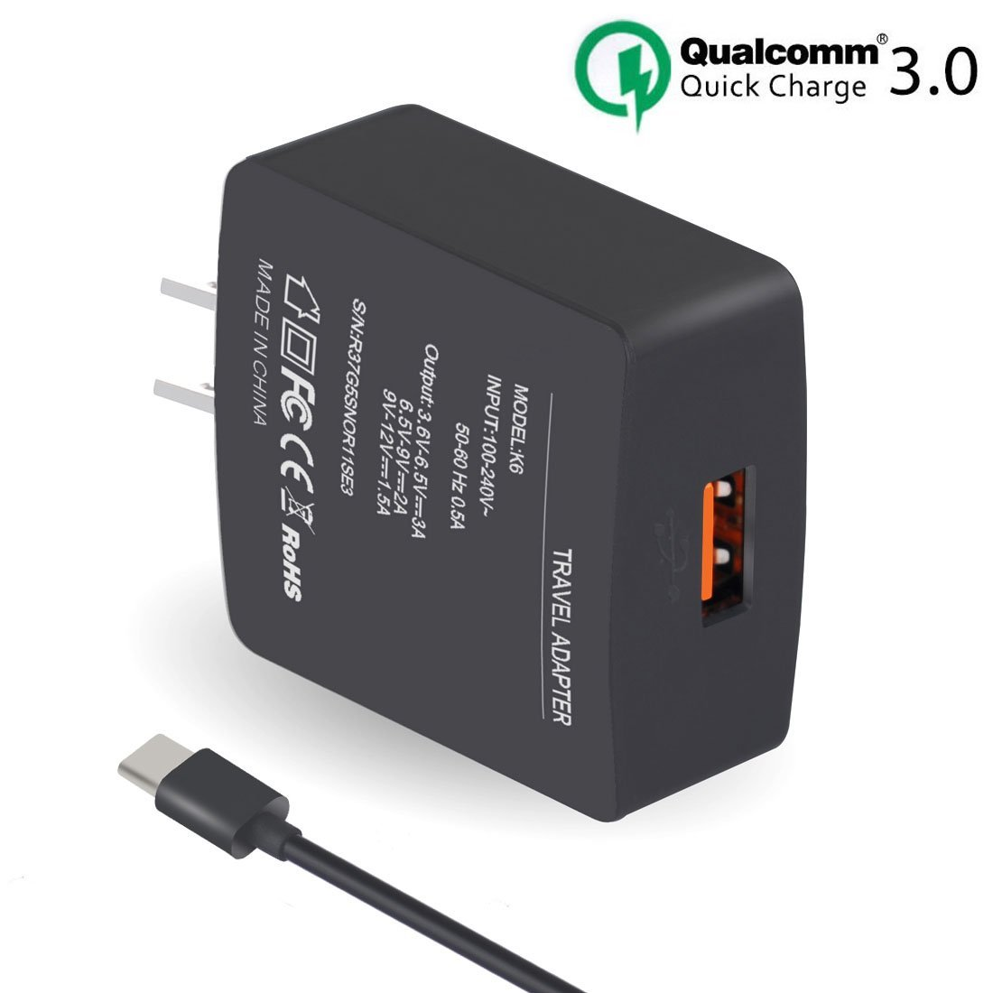 Frustration Free Packaging Verizon Micro USB Rapid Wall Charger with 6 ft Cable For Samsung Galaxy s7 edge//s7 //s6 //s6 edge //Note 5 note 4 Note 3// Note 2// HTC One M9 HTC One M8 LG G3//G4//G2 Black