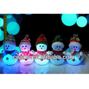Fibre Optic LED Lights christmas snowman decoration
