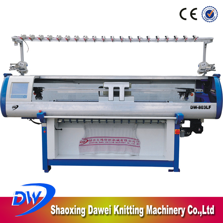 DAWEI DW-803F 80 Inch High Efficiency Computerized Industrial Sweater Knitting Machine Sale For Blankets