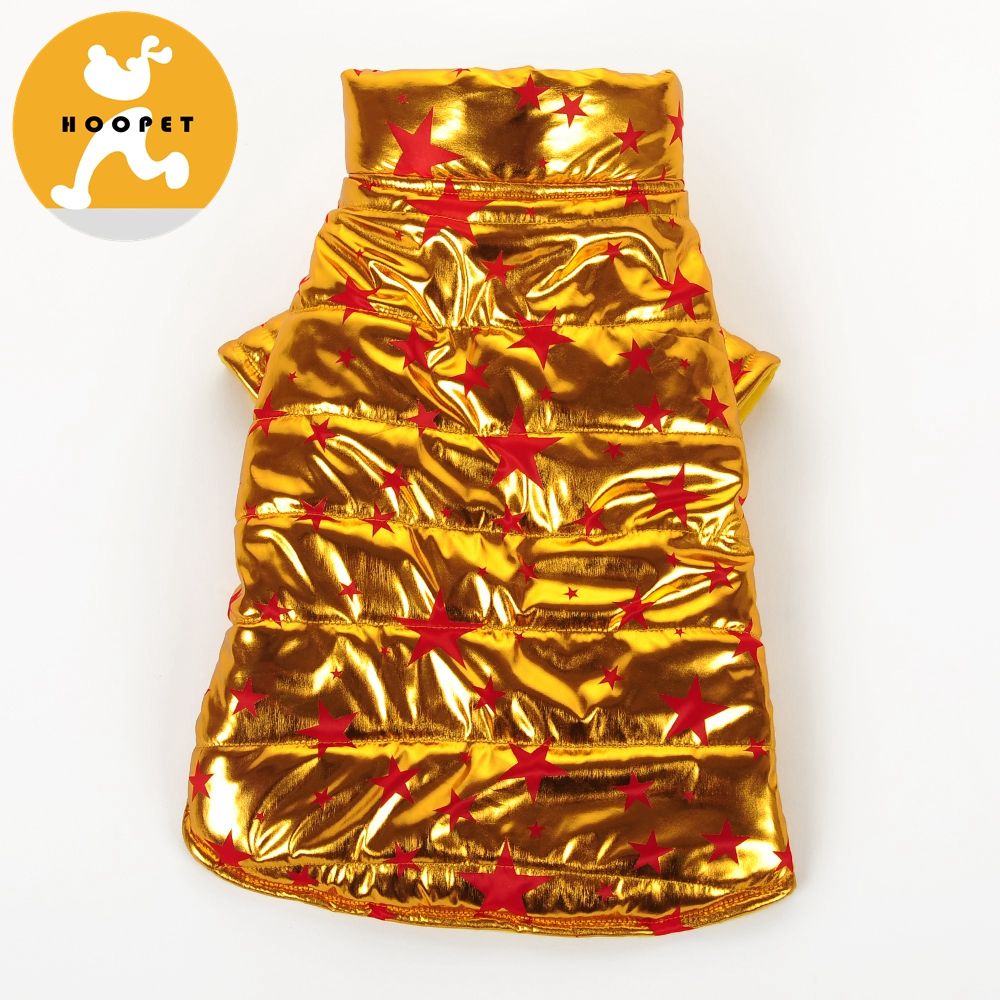 New arrival blazing golden winter coat dog clothes large size