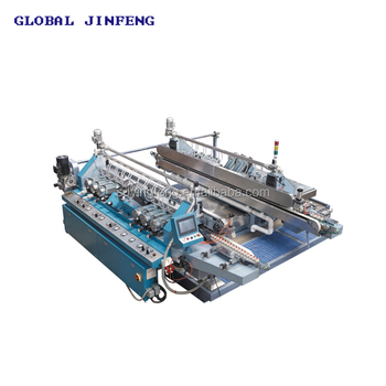 JFD-22 PLC Horizontal Glass straight line double edging and polish machine device
