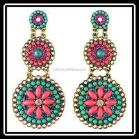 2015 New Arrival Beautiful Vintage India Custume Drop Earrings Fashion Jewelry Wholesale