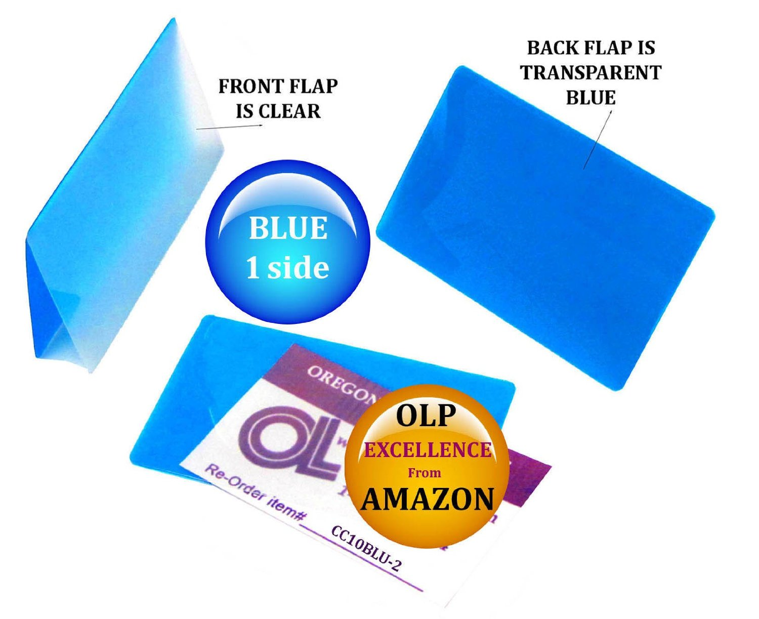 LAM-IT-ALL Hot Laminating Pouches Credit Card (pack of 200) 10 mil 2-1/8 x 3-3/8 Blue/Clear
