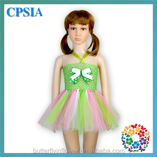 3b174713559b 2015 Newest Little Baby Girl Flower Tutu Dress Patterns Green ...