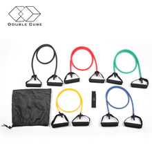 5 colors door gym fitness equipment elastic rubber resistance band set Pilates Yoga resistance tube exercise band loop