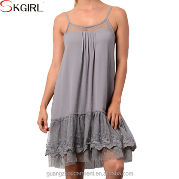 Wholesale Loose Knit Tunics Plus Size Slip Cami Lace Extenders Tank Top  Dress For Women - Buy Lace Extender Women Dress,Lace Extenders For  Tops,Plus ...