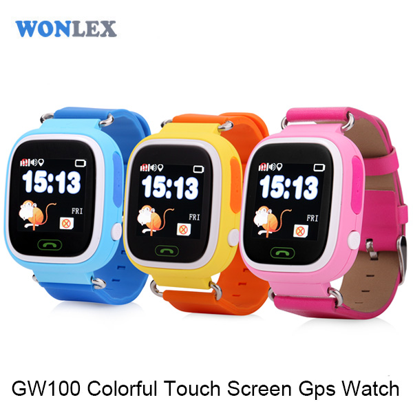 Hot selling Smart children's watches with GPS Smart Baby Watch GW100 Blue