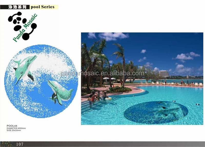 Mb cheap decorative swimming pool tile design dolphin for Pool design pattern