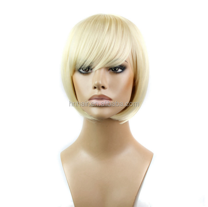 Cosplay Wig synthetic hair short straight blonde bobo wig for cheap wholesale