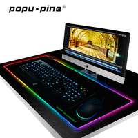 Large USB Wired LED RGB Mouse Pad Lighting Gaming Gamer Mousepad Mice Mat for Laptop Computer Overwatch Pubg Dota 2