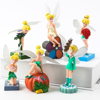 6PCS/Lot Figure Flower Princess 6.5-10CM Doll Action Figure Toy gift cake toppers birthday