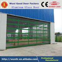 PC Plate Aluminum Frame Transparent Glass Panel Door for Car Shop