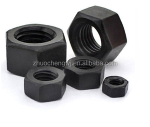 Black ASTM A563 Gr DH Heavy Hex Nut M64