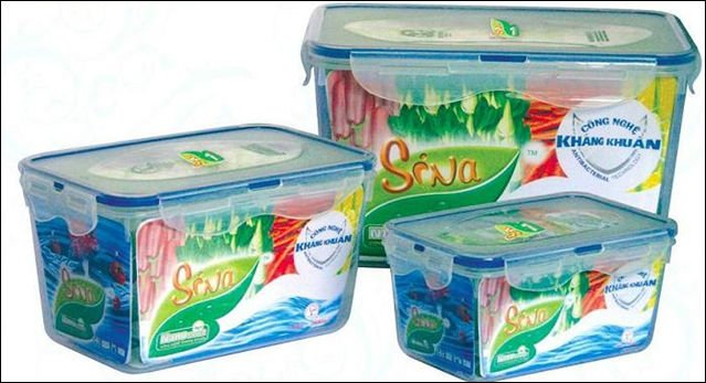 SINA - plastic food container (Antibacterial food storages)