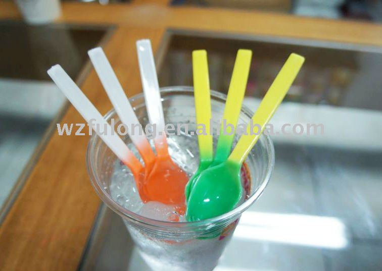 colorful color changing spoon