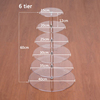 6 Tier Crystal Acrylic Round Cupcake Stand, Round Perspex Cake Display
