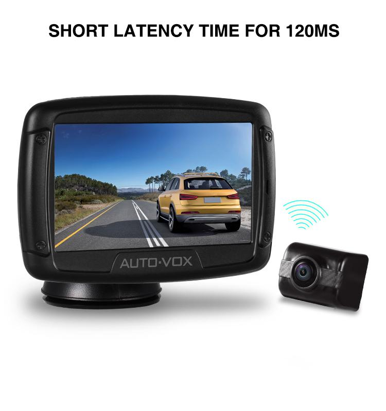Short latency digital backup camera wireless car reversing camera rear view camera monitor