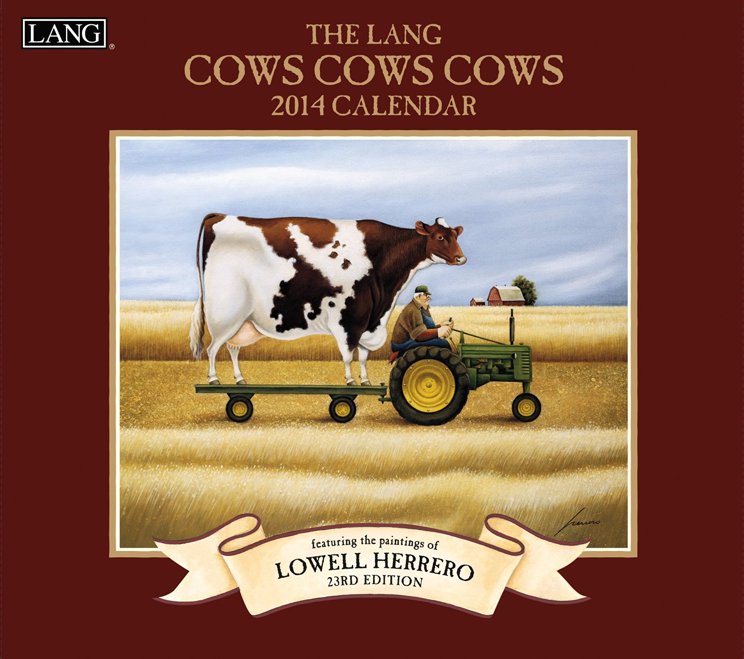Lang Perfect Timing - Lang 2014 Cows Cows Cows Wall Calendar, January 2014 - December 2014, 13.375 x 24 Inches (1001698)