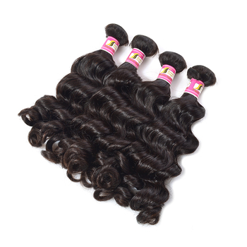 Wholesale no synthetic hair padding cheap remy hair extension