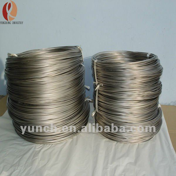 Diameter 0.1mm Nickel Titanium Alloy Coiling Wire Shape memory