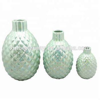 Under glazed type and porcelain-antique style material home accent decor floor vases