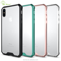 2017 New Shockproof Hybrid Bumper Color TPU Frame PC Clear hard Back Cover Phone Case for Apple iPhone 10