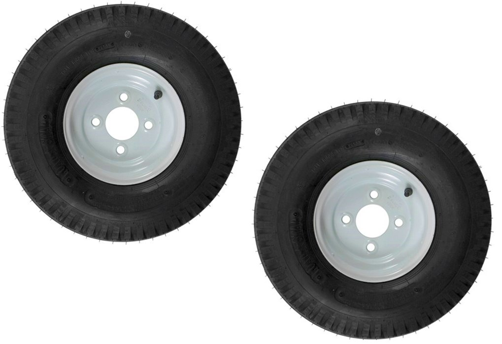 "eCustomRim 2-Pk Trailer Tire & Rim 570-8 5.70-8 8"" Load C 4 Lug White 39324"