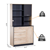 wood melamine simple kitchen cabinet supplier wholesale mdf pantry storage cabinets