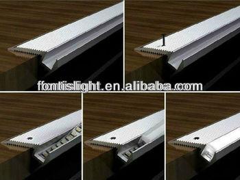 Alp022 aluminum led edge lit profile for stair lights - Leds para escaleras ...