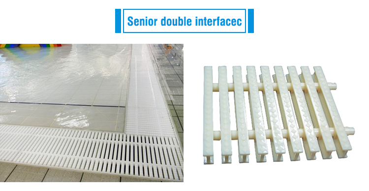 Swimming Pool Equipment Strong Grid Overflow Grating Grilling Cufflinks Shape PP  Pool Plastic Grating