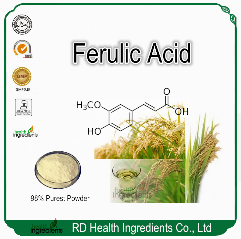 Cosmetical Ingredient Rice Bran Oil Extract 98% Ferulic Acid