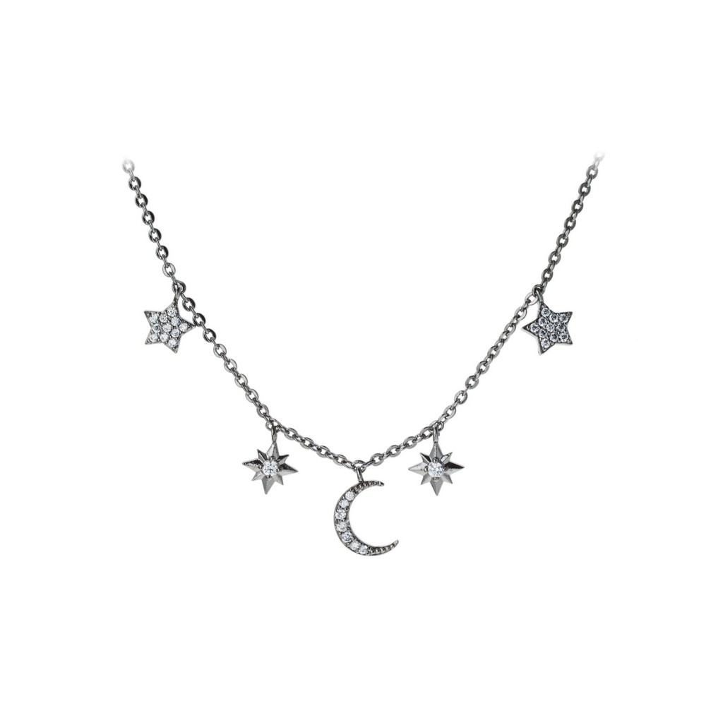 Jewelry fashion necklaces nickel free choker gun black cubic zirconia star simple charm choker