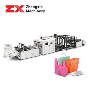 Non Woven Bag Making Machine with Online Handle Sealing