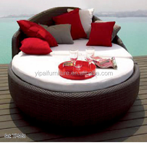 Double Deck Outdoor Round Sofa Bed