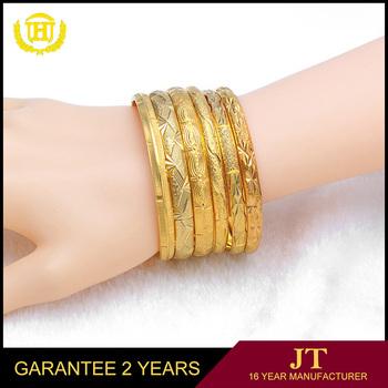 Whole Custom 18k Simple Gold Bangle Designs Saudi Arabia Jewelry