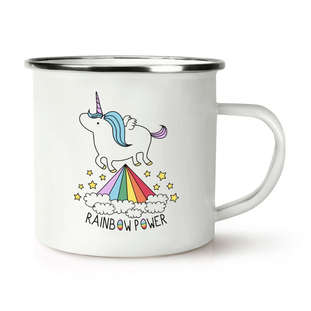 Customized printed unicorn enamel mugs factory wholesale