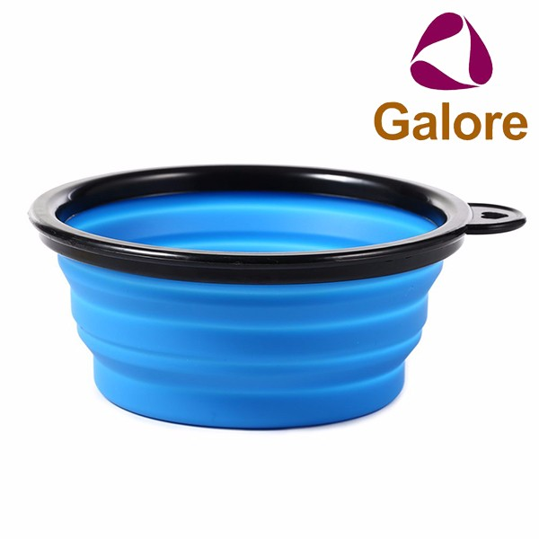 Large Dog Travel Silicone Camping Collapsible Foldable Water Bowl