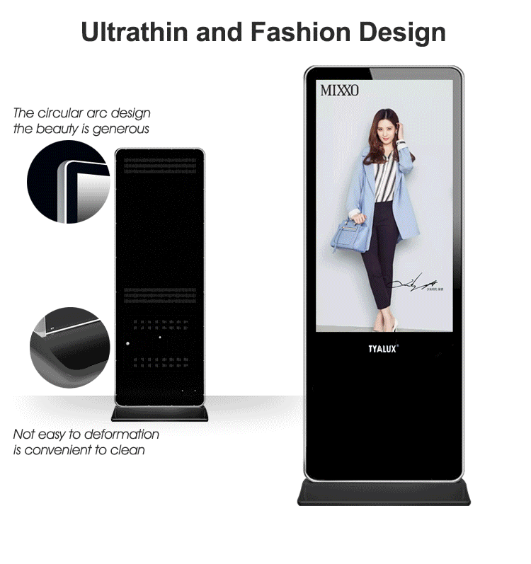 55 Inch Large Lcd Display Multi Touch Screen Floor Stand Digital Signage