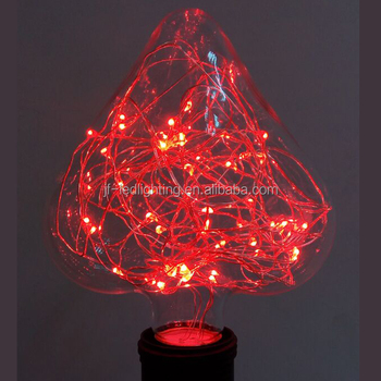 Flashing Red Light >> Heart Shape Love Gift Led Starry Bulb Copper Wire Flashing Red Light Bulb Buy Flashing Red Light Bulb Flashing Red Light Bulb Flashing Red Light