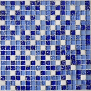 mini ice crack glass mosaic