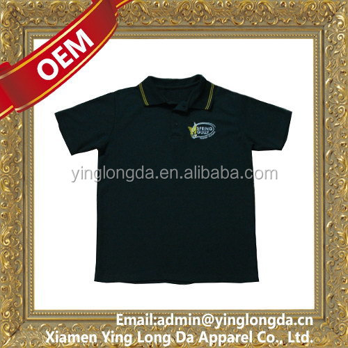 Cheapest professional children uniform polo shirt