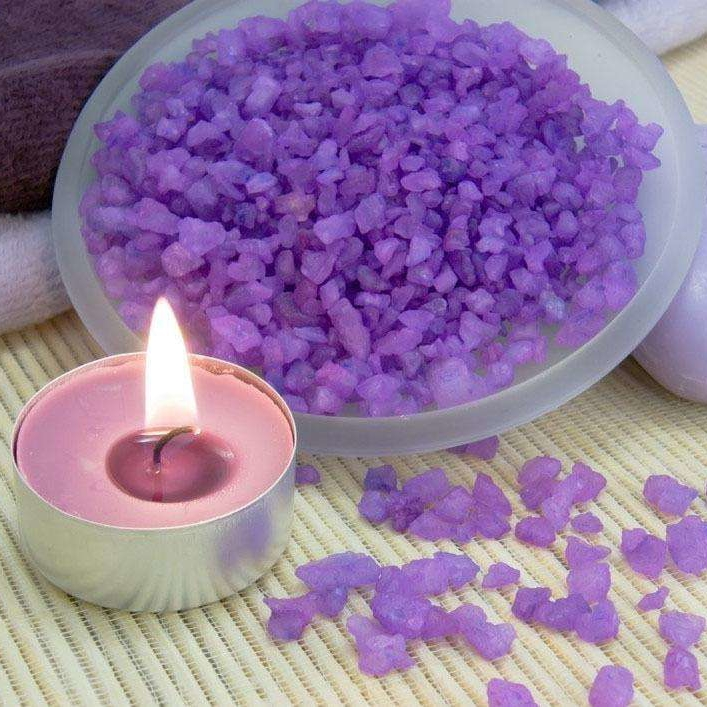 Lavender Home Decorative Fragrances Purple Color Tealight Candle Holder