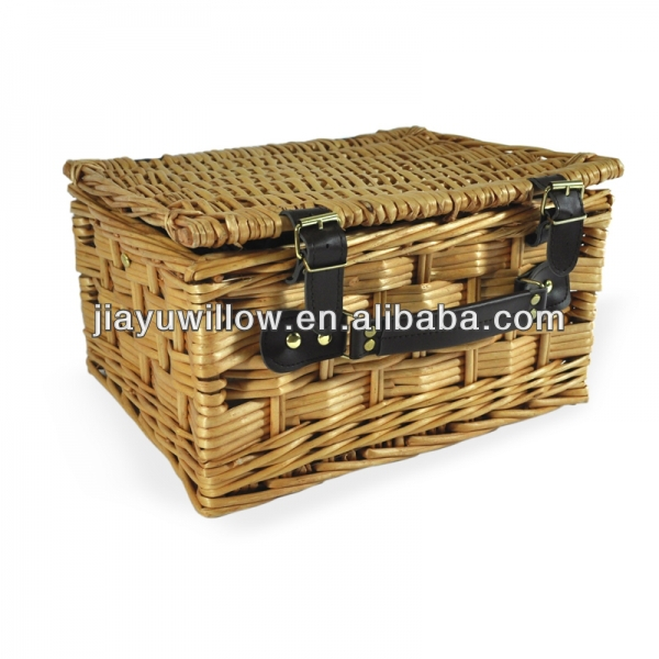 Eco-friendly wicker gift basket with lids for sale