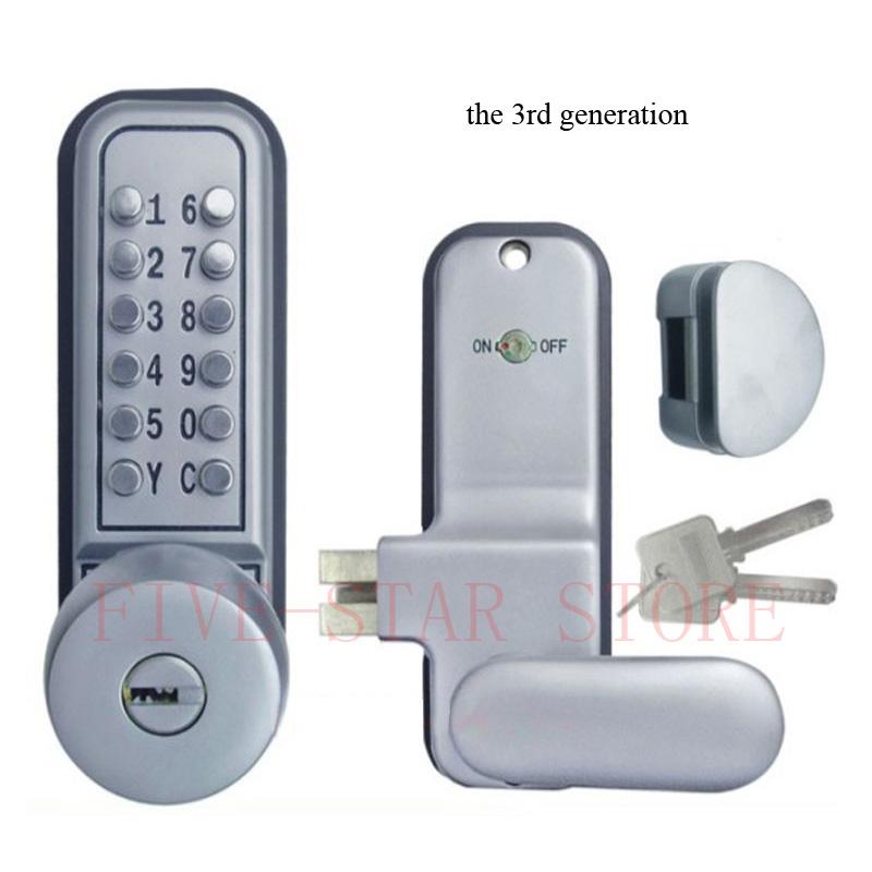 Digital Sliding Glass Door Lock: HOT Mechanical Glass Door Lock Push Button Password