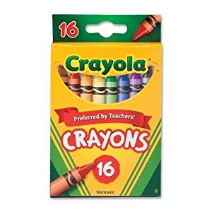 "Crayola Crayon Set, 3-5/8"", Permanent/Wa - Crayola Crayon Set, 3-5/8"", Permanent/Waterproof, 16/Bx, Assortedbright, Quality Crayola Crayons In Peggable Box Produce Brilliant, Even Colors. Crayons Are"
