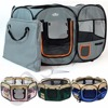 Fabric Pet Playpen Portable Folding Run Dog Cat Puppy Guinea Pig Rabbit Play Pen