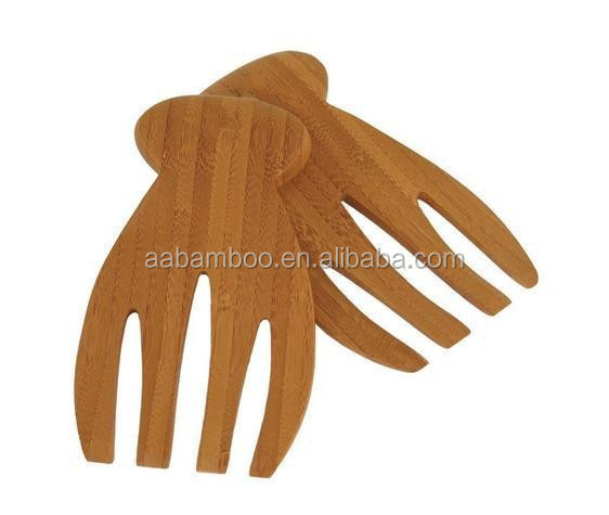 Bamboo Salad Serving Hands