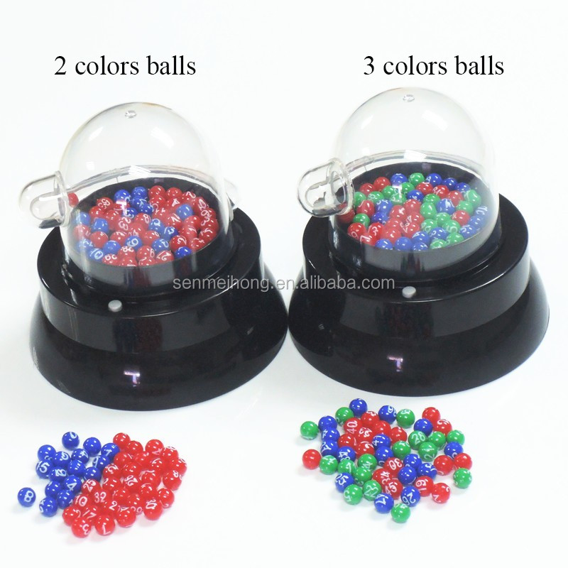 Electric Mini Lucky Lottery Bingo Games with Picking Colored Number Balls