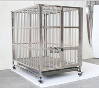 Stainless steel outdoor dog house acrylic pet cage for dog living