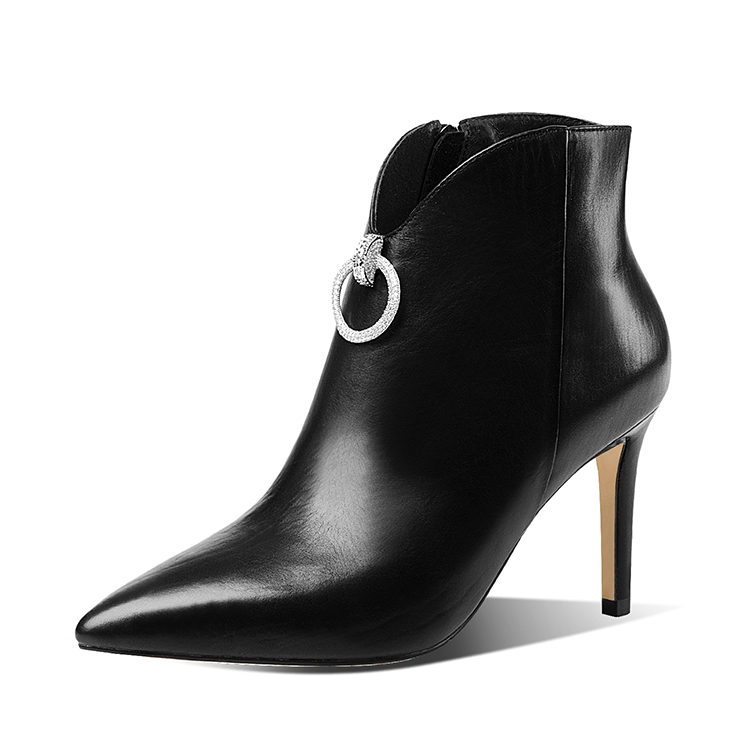 2017 High quality high heels ankle boots woman